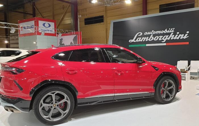 Auto 2019. Lamborghini Aventador SVJ на выставке в Риге