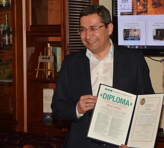 Вручение почетных наград Дипломатического экономического клуба Послу Узбекистана Афзалу Артыкову