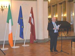 Прием Посольства Ирландии в Латвии по случаю дня Св. Патрика. Посол Эйдан Кирван