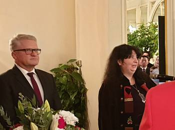 Посол  Австрии в Латвии  Стелла Аваллоне, мэр г. Линц Клаус Лугер