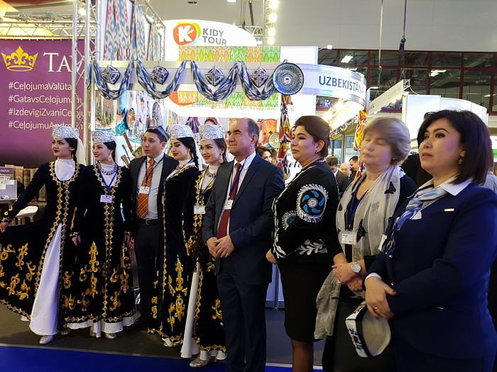 Balttour 2018 stand of the Ferghana region of Uzbekistan