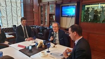 Посол Бельгии  Хуго Брауверс в Дипломатическом экономическом клубе