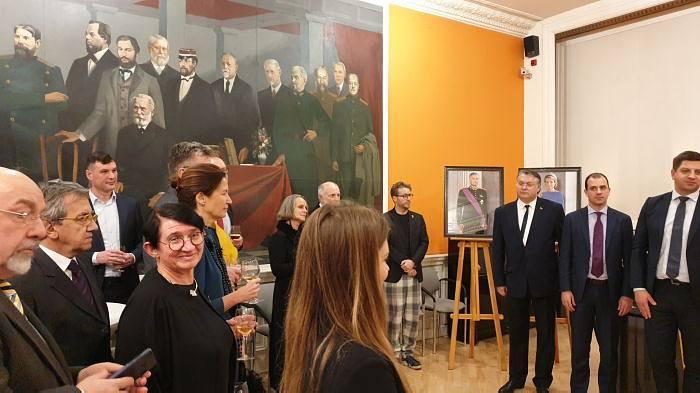 Beļģijas vēstniecības pieņemšana Rīgā. Francijas vēstniece Odile Soupison
