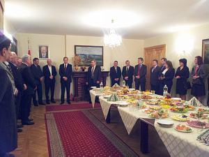 Андрис Америкс и Посол Беларуси Александр Герасименко