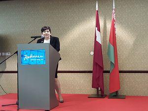 Прием Посольства Беларуси в Латвии по случаю Дня независимости Республики Беларусь. Посол М. Долгополова