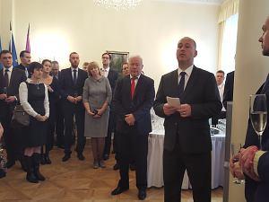 Прием Посольства Чехии в Латвии, октябрь 2015. Посол Чехии  Мирослав Косек