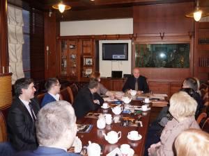 Посол Чехии Павол Шепеляк на встрече в Дипломатическом клубе. 2 апреля 2015