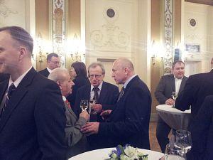Посол Чехии Павол Шепеляк, депутат Саема Латвии Сергей Долгополов