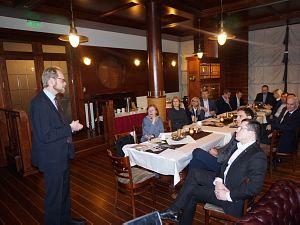 Tikšanās Diplomātiskajā Ekonomiskajā Klubā ar Somijas vēstnieku Latvijā, V.E. Olli Kantanena kungu.