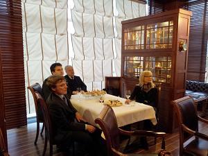 11 апреля 2013 г. Встреча в Дипломатическом Клубе. М. Преминин, А. Ильин, В. Козловский, С. Шушунова