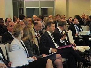 Посол Франции Стефан Висконти на экономичском форуме в Риге
