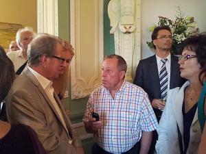 "The deputy of the Saeima Sergey Dolgopolov and prezident of ""Dzintars"" Ilia Gerchikov"