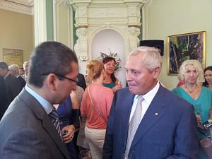 Uzbek Ambassador to Latvia Afzal Artikov and ITERA Latvia president Juris Savickis