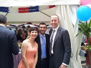 Counselor of the Embassy of Greece Charikleia Perri and Counselor of the Embassy of Norway Ragnar Haug