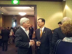 Посол Щвейцарии Маркус Никлаус Поль Дутли и Посол КНР  Yang Guoqiang