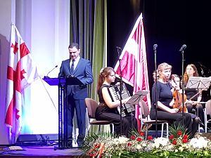 Прием Посольства Грузии в Латвии, Посол Теймураз Джанджалия