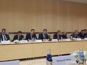 Владимир Гройсман на встрече с членами Дипломатического экономического клуба, деловыми кругами Латвии