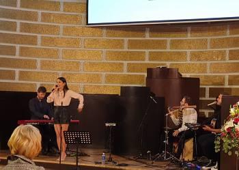 Прием Посольства Венгрии в Латвии. Певица из Венгрии Богларка Чемер
