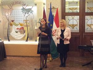 Посол Венгрии в Латвии госпожа  Адриен Мюллер