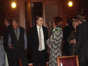 Встреча в Дипломатическом Клубе 7 ноября 2013. Андрей Лохмаков и Ольга Павук