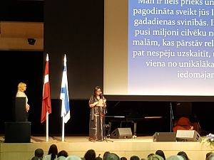 Reception of the Embassy of Israel in Latvia. Ambassador Mrs. Lironne Bar-Sadeh