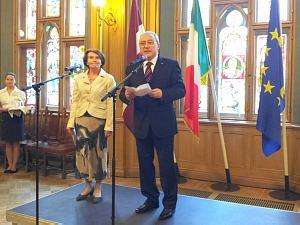 Посол Италии вЛатвии Джованни Полицци