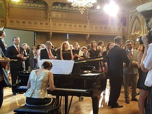 Прием Посольства Италии в Латвии. Оперный солист Кришьянис Норвелис