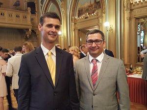 Прием Посольства Италии в Латвии. Посол Италии Себастьяно Фулчи и Посол Узбекистана Афзал Артыков