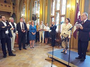 Прием Посольства Италии вРиге