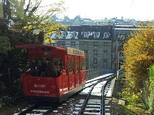 Фуникулер к главному зданию Цюрихского университета