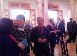 Члены дипломатического клуба на презентации книги Президента Казахстана Н. Назарбаева в Риге, 4 марта 2015