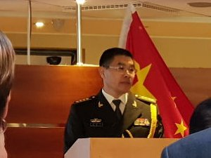 Reception of the military attache of the Embassy of the People's Republic of China 2018