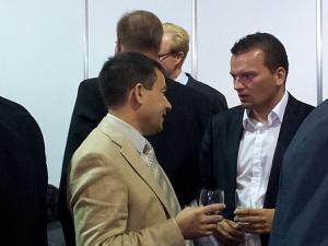 Ласло Солдатич секретарь Посольства Венгрии в Эстонии и Латвии, Президент Клуба Давид Томашевски секретарь Посольства Польши