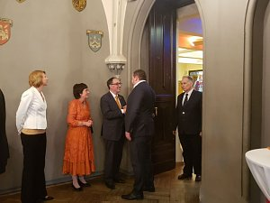 Reception dedicated to the national holiday King's Day in Riga