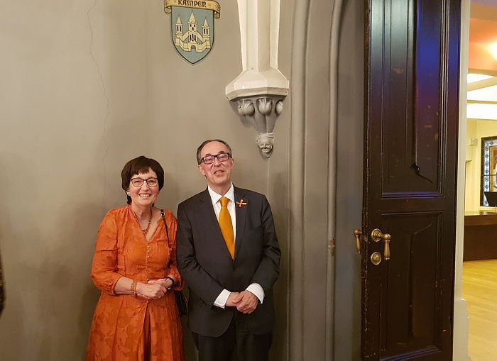 Ambassador of the Kingdom of the Netherlands in Latvia Pieter Langenberg with his wife Mieke Langenberg