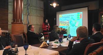 Natalia Varadi at the Diplomatic Economic Club
