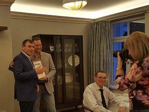 Вице-президент клуба Олег Бутенко. Встреча в ресторане Philippe в Юрмале