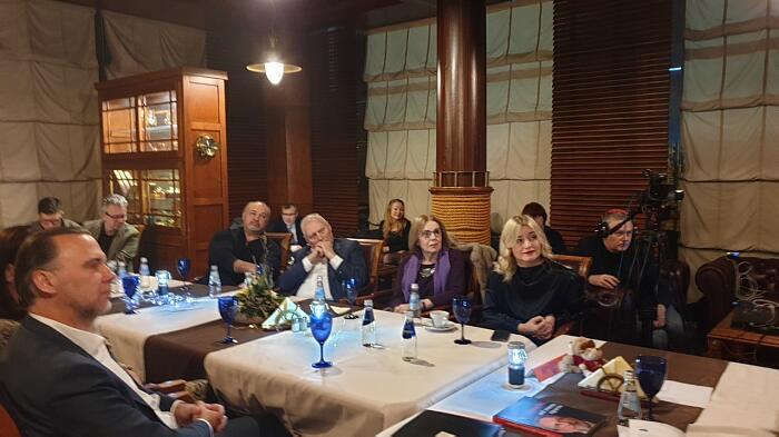 Петерис Шмидре на встрече в Дипломатическом экономическом клубе 31.01.2020