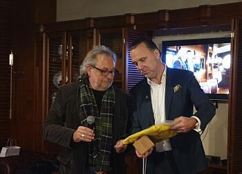 Петерис Шмидре и Андрей Павлов - вручение наград