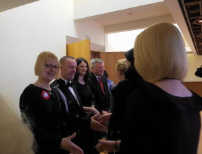 Reception of the Embassy of Poland in Latvia. Ambassador Of The Republic Of Poland Ewa Debska