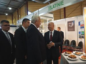 Юбилейная выставка Riga Food 2015. Я. Дуклавс и Посол Чехии П. Шепеляк
