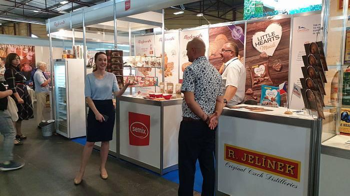 Riga Food 2019. Стенд Czech Trade, участники из Чехии. Директор представительства в странах Балтии Вера Вшетичкова