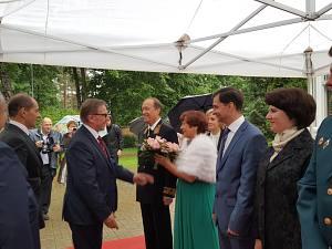 Прием Посольства России вЛатвии. Посол России Александр Вешняков