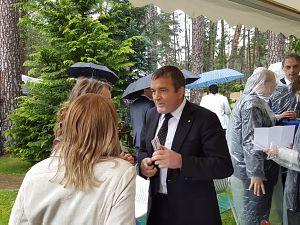 Прием Посольства России в Латвии в 2016 году. Николай Ермолаев, президент холдинга DINAZ