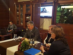 The meeting with the Ambassador of Kazakhstan took place at the Diplomatic Economic Club.
