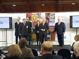 Открытие выставки Балтийский праздник книги в Риге. Посол Литвы Ричардас Дегутис