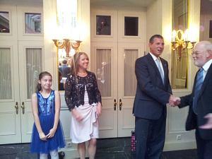 Slovak Ambassador in Latvia Mr.Dusan Krsistofik with his wife Adriana Krsistofik