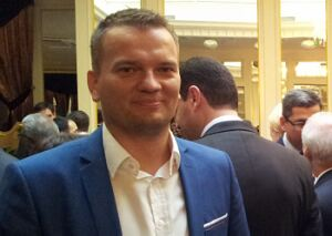Прием Посольства Словакии в Риге. Давид Томашевски и Николай Ермолаев