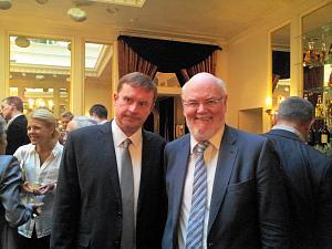 Прием Посольства Словакии в Риге. Посол Словакии Петер Хатяр и Посол Ирландии Эйдан Кирван