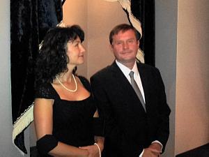 Прием Посольства Словакии в Риге. Посол Словакии Петер Хатяр с супругой